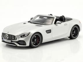 Mercedes-Benz AMG GT C Roadster year 2017 silver 1:18 Norev