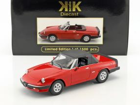 Alfa Romeo Spider 3 Serie 2 mit abnehmbarem Softtop Baujahr 1986 rot 1:18 KK-Scale