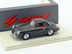 Porsche 356B t5 Karmann Hardtop Coupe Baujahr 1961 schwarz 1:43 Spark