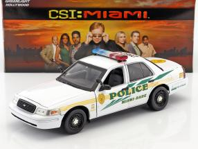 Ford Crown Victoria Police Interceptor 2003 TV-Serie CSI: Miami (2002-2012) weiß 1:18 Greenlight