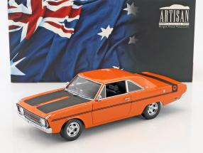 Chrysler Valiant VG Baujahr 1970 orange / schwarz 1:18 Greenlight