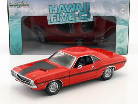 Dodge Challenger R/T Baujahr 1970 TV-Serie Hawaii Five-O (seit 2010) rot 1:18 Greenlight