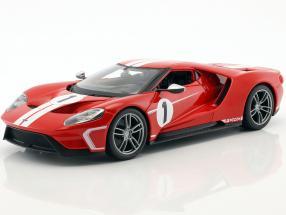 Ford GT #1 Baujahr 2017 rot / weiß 1:18 Maisto