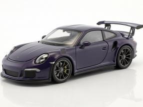 Porsche 911 (991) GT3 RS year 2016 ultraviolet 1:24 Welly