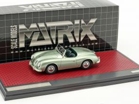 Porsche 356 America Roadster Open Top Baujahr 1952 hellgrün metallic 1:43 Matrix