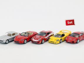 Ferrari 5-Car Set: Ferrari California, 599 GTB, 250 GTE, 360 GT, F50 jeweils mit Vitrine 1:43 Altaya