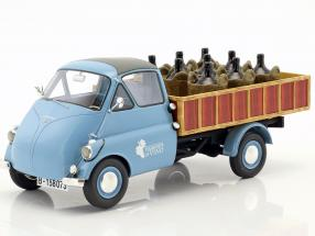 Isocarro Pick up with wine charge blue / brown 1:18 Schuco