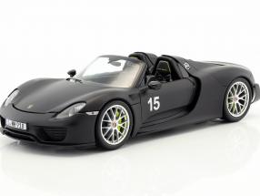 Porsche 918 Spyder Weissach Package year 2015 mat black 1:18 Minichamps