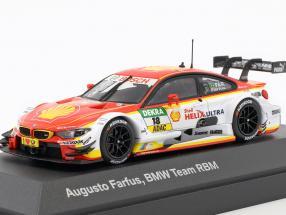 Augusto Farfus BMW M4 DTM #18 DTM 2015 BMW Team RBM 1:43 Minichamps