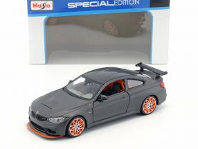 BMW M4 GTS mat black with orange rims 1:24 Maisto