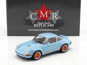 Singer Coupé Dubai modification of a Porsche 911 gulf blau / orange 1:18 CMR
