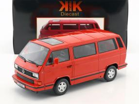Volkswagen VW Bus T3 Red Star Baujahr 1993 rot 1:18 KK-Scale
