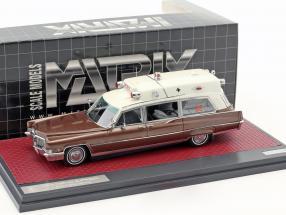 Cadillac Superior 51 Ambulance Baujahr 1970 brown metallic / weiß matrix