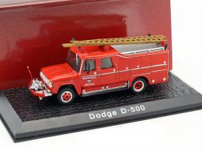 Dodge D-500 Feuerwehr Watou (Belgien) Baujahr 1958 rot 1:72 Atlas