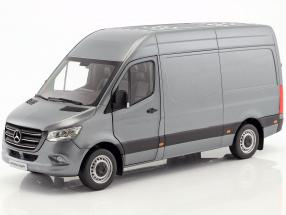 Mercedes-Benz Sprinter Panel Van year 2018 selenitgrau metallic 1:18 Norev