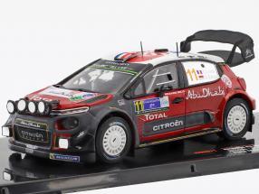 Citroen C3 WRC #11 5th Rallye Mexiko 2018 Loeb, Elena 1:43 Ixo