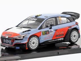 Hyundai NG i20 WRC #11 2nd Monza Rallye Show 2017 Mikkelsen, Neuville 1:43 Ixo