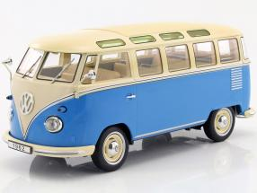 Volkswagen VW Bulli T1 Samba year 1962 blue / cream 1:18 KK-Scale