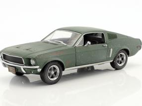 Ford Mustang GT Fastback unrestored Steve McQueen Movie Bullitt (1968) green 1:24 Greenlight