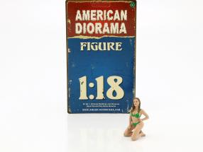 calendar Girl February in bikini 1:18 American Diorama