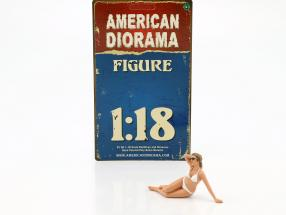 calendar Girl June in bikini 1:18 American Diorama