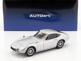 Toyota 2000 GT coupe year 1965 silver 1:18 AUTOart