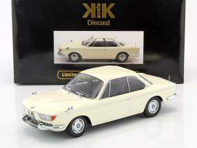 BMW 2000 CS coupe year 1965 cream hite 1:18 KK-Scale