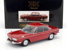 BMW 2000 CS coupe year 1965 dark red 1:18 KK-Scale