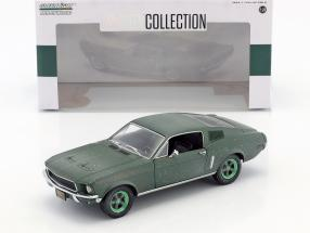 Ford Mustang GT Fastback unrestored Steve McQueen Film Bullitt (1968) grüne Felgen 1:24 Greenlight