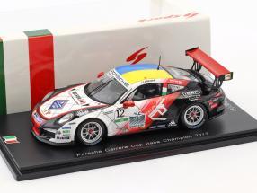 Porsche 911 GT3 Cup #12 champion Porsche Carrera Cup Italy 2017 Alessio Rovera 1:43 Spark