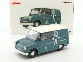 Volkswagen VW Fridolin VW-Kundendienst light blue / White 1:18 Schuco