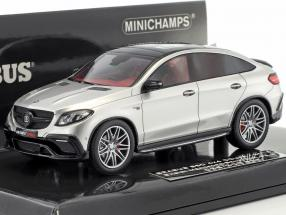 Brabus 850 4x4 coupe based on Mercedes-Benz AMG GLE 63 S year 2016 silver 1:43 Minichamps