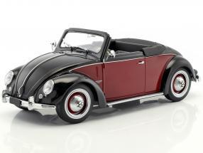 Volkswagen VW 1200 Hebmüller Cabriolet Year 1949 black / dark red 1:18 KK-Scale