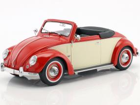 Volkswagen VW 1200 Hebmüller Cabriolet Year 1949 red / cream 1:18 KK-Scale