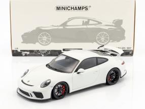 Porsche 911 (991 II) GT3 year 2017 white 1:18 Minichamps
