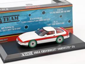 Chevrolet Corvette C4 1984 TV series The A-Team (1983-87) white / red / green tires 1:43 Greenlight