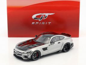 Mercedes-Benz AMG GT modified by Prior Design Baujahr 2015 satin silber 1:18 GT-Spirit