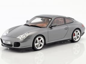 Porsche 911 (996) Carrera 4S Facelift year 2002 gray metallic 1:18 GT-Spirit