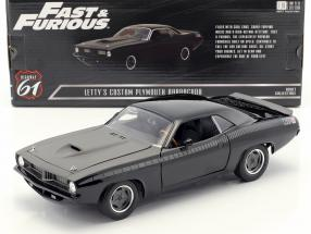 Letty's Custom Plymouth Barracuda Movie Fast & Furious 7 (2015) black 1:18 Greenlight