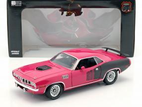 Plymouth Hemi Cuda Baujahr 1971 Film Gone in 60 Seconds (2000) rosa / schwarz 1:18 Greenlight