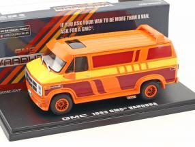 GMC Vandura Custom Baujahr 1983 orange / gelb / rot 1:43 Greenlight