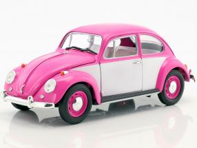 Volkswagen VW Beetle RHD year 1967 pink / white 1:18 Greenlight