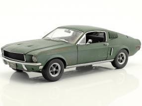Ford Mustang GT Fastback unrestored Steve McQueen Movie Bullitt (1968) green 1:18 Greenlight