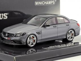 Brabus 600 based on Mercedes-Benz AMG C 63 S year 2015 mat gray metallic 1:43 Minichamps