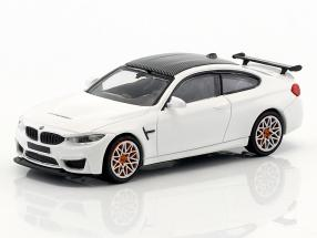 BMW M4 GTS year 2016 white with orange rims 1:87 Minichamps