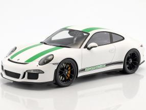 Porsche 911 R year 2017 white / green 1:18 Spark