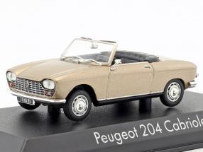 Peugeot 204 Cabriolet year 1967 beige metallic 1:43 Norev