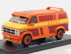 GMC Vandura Custom year 1983 orange / yellow / red 1:43 Greenlight