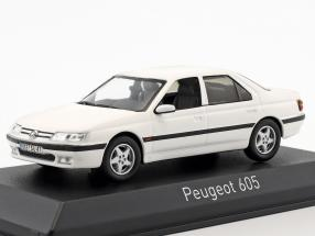 Peugeot 605 year 1988 white 1:43 Norev