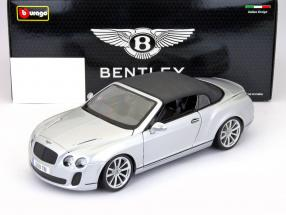 Bentley Continental Supersports Convertible year 2011 silver 1:18 Bburago